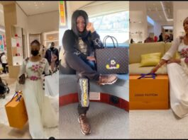 Hajia4Reall Goes Shopping For Original Louis Vuitton Bags 2 Days After Tracey Boakye Flaunted Her Fake LV Handbag On IG
